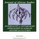 SORAC JAS Volume 3 - Internalist vs. Externalist Approaches to African History & Cultures